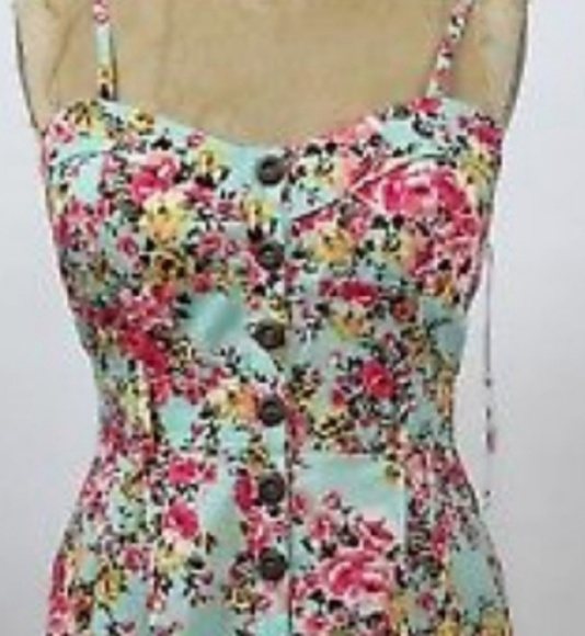 Purple Snow Dresses & Skirts - NWT Purple Snow Floral Mint Sundress